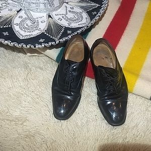Black leather shoes master cobbler Hecho Mexico HP